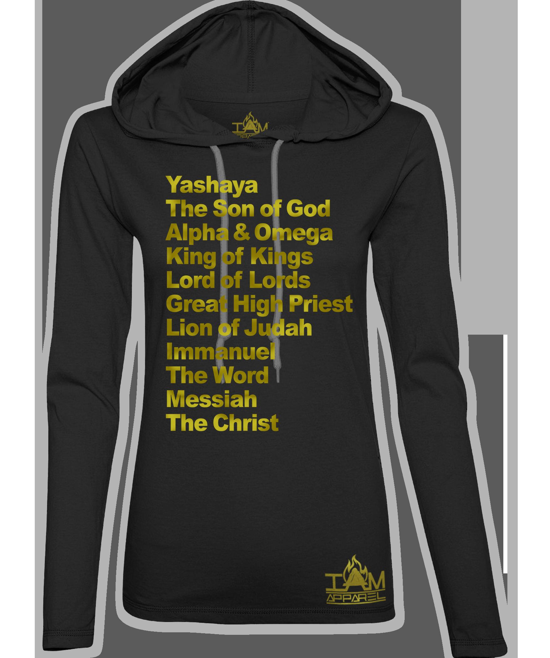 """Women's """"GOLDEN SERIES"""" Yashaya Text Hoodie"""