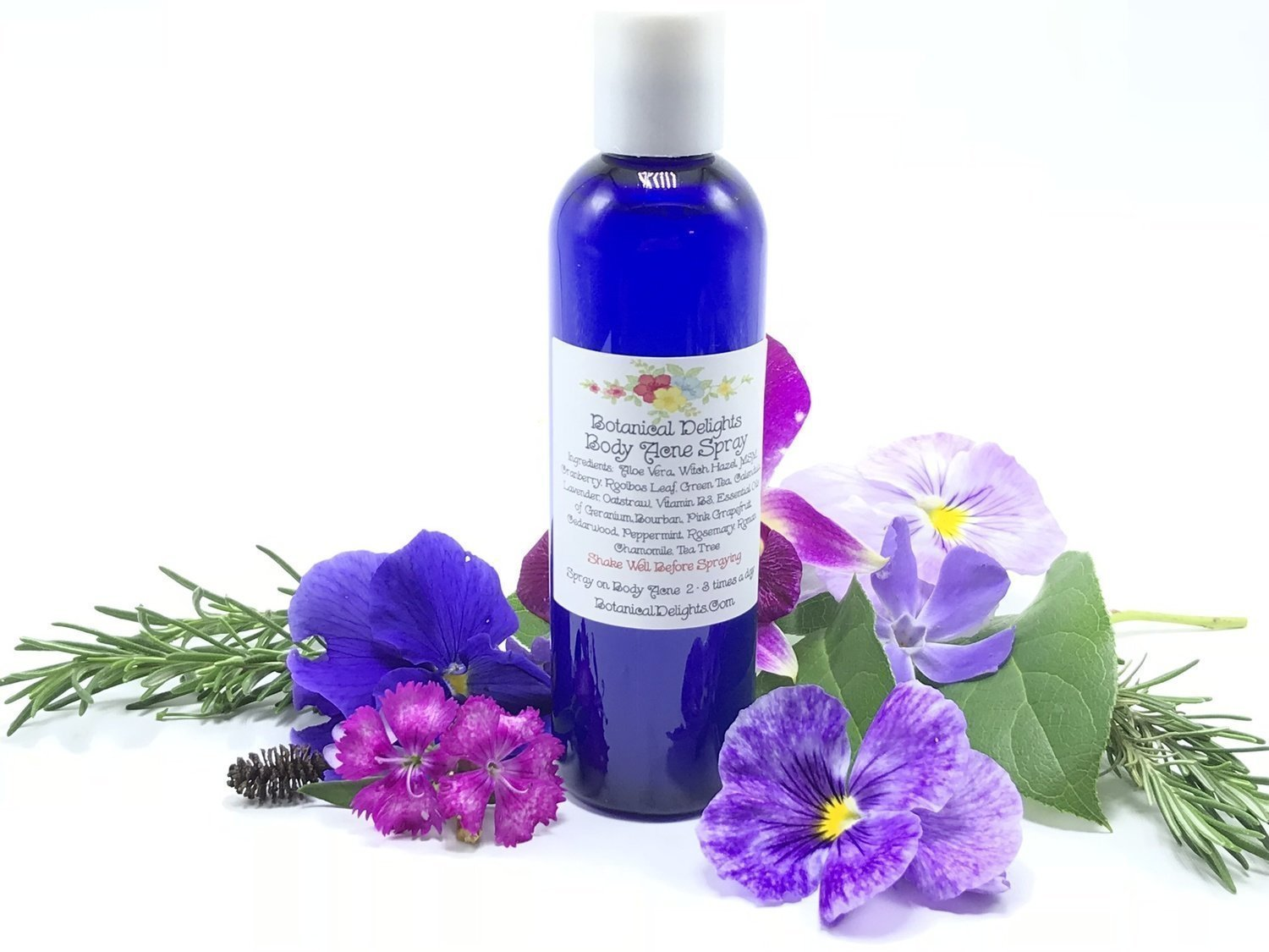 BODY ACNE SPRAY - MSM, Anti Bacterial Essential Oils and Botanical Extracts  for reducing acne, and fading acne scars