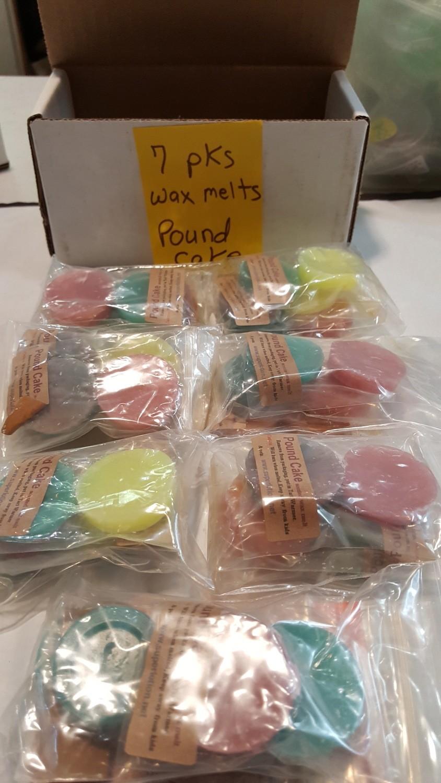 7 pks pound cake wax melts
