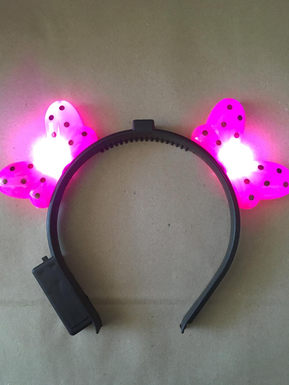 Vincha moñitos LED