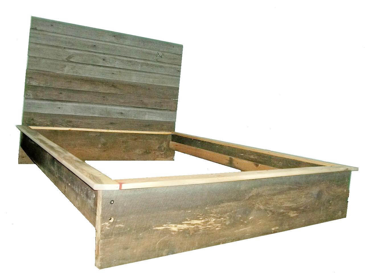 Tobacco Platform Full Bed T.B.01