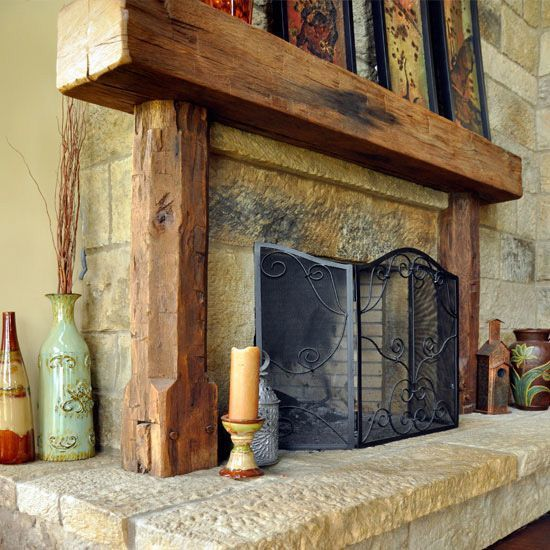 Hand Hewn Fireplace Mantels F.M.o2
