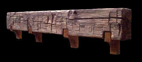 Hand Hewn Fireplace Mantels