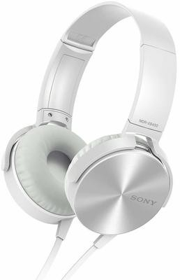 Sony MDR-XB450 On-Ear EXTRA BASS Headphones White Without Mic