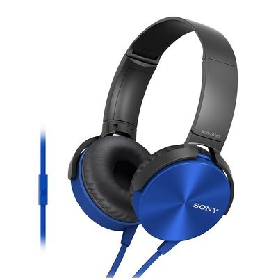 Sony MDR-XB450AP On-Ear Headphones, Blue