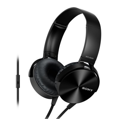 Sony MDR-XB450AP On-Ear Headphones, Black