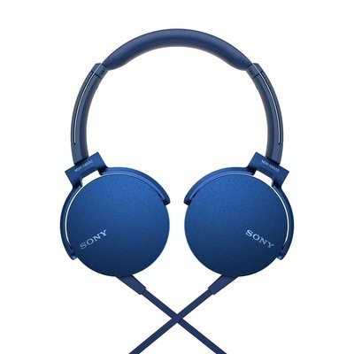 Sony Extra Bass MDR-XB550AP On-Ear Headphones,Blue