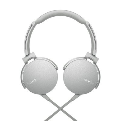 Sony Extra Bass MDR-XB550AP On-Ear Headphones, White