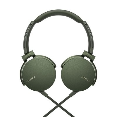 Sony Extra Bass MDR-XB550AP On-Ear Headphones, Green