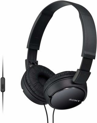 Sony MDR-ZX110AP On-Ear Stereo Headphones, Black