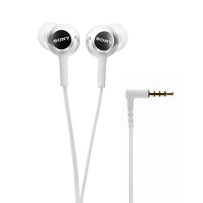 Sony MDR-EX155AP in-Ear Headphones with Mic, White