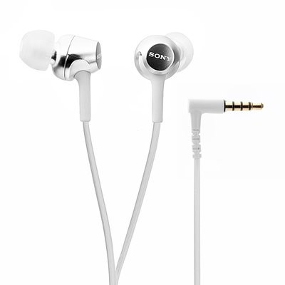 Sony MDR-EX155 in-Ear Headphones, White