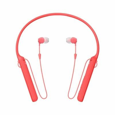 Sony WI-C400 Wireless Behind-Neck in Ear Headphone, Red