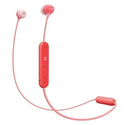 Sony WI-C300 Wireless in-Ear Headphones, Red