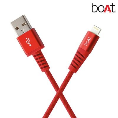 boAt para-Armour Lightning Cable MFI Certified - 1.5m (Red)