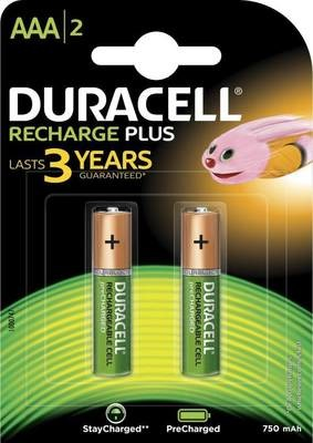 Duracell Battery Rechargeable AAA , 2-CELL
