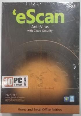 10 User, 3 Year, eScan Antivirus, V-14.x