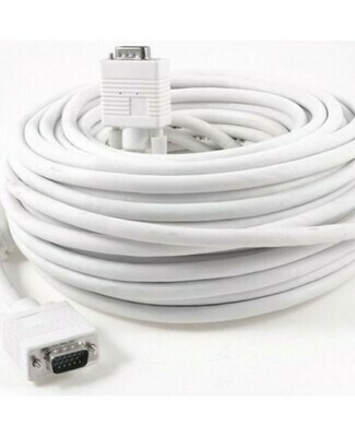 Haze 20mtr VGA male to male Cable, White