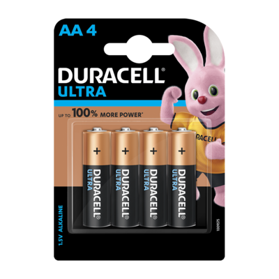 Duracell Ultra Alkaline AA, 4 Battery