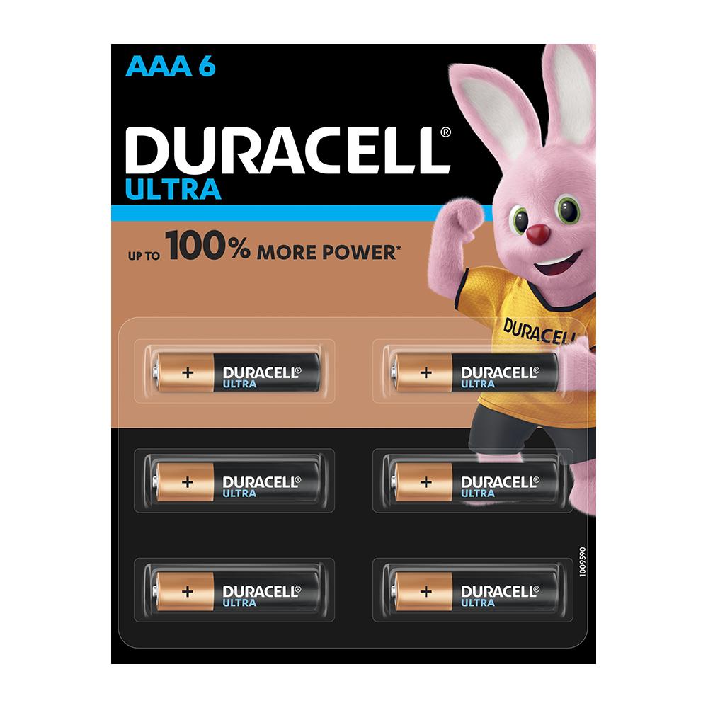 Duracell Ultra AAA, 6 Batteries, 1.5V Alkaline