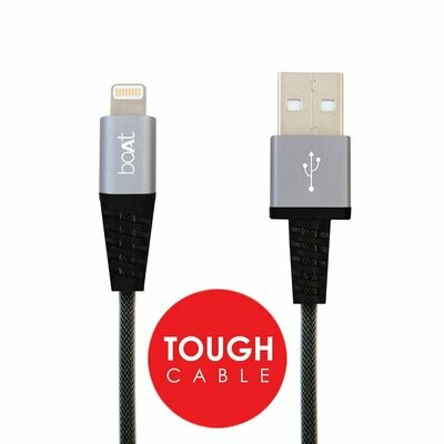 boAt Aluminum Alloy Connector Lightning 1M Data Cable, Grey