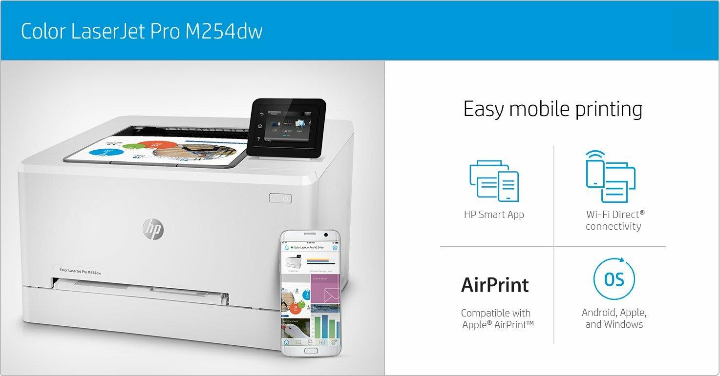 HP Color Laserjet Pro M254DW Duplex Printer