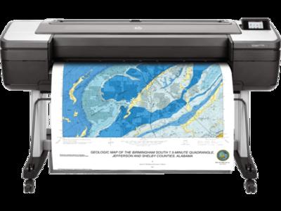 HP DesignJet T1700dr 44-in PostScript Plotter Printer