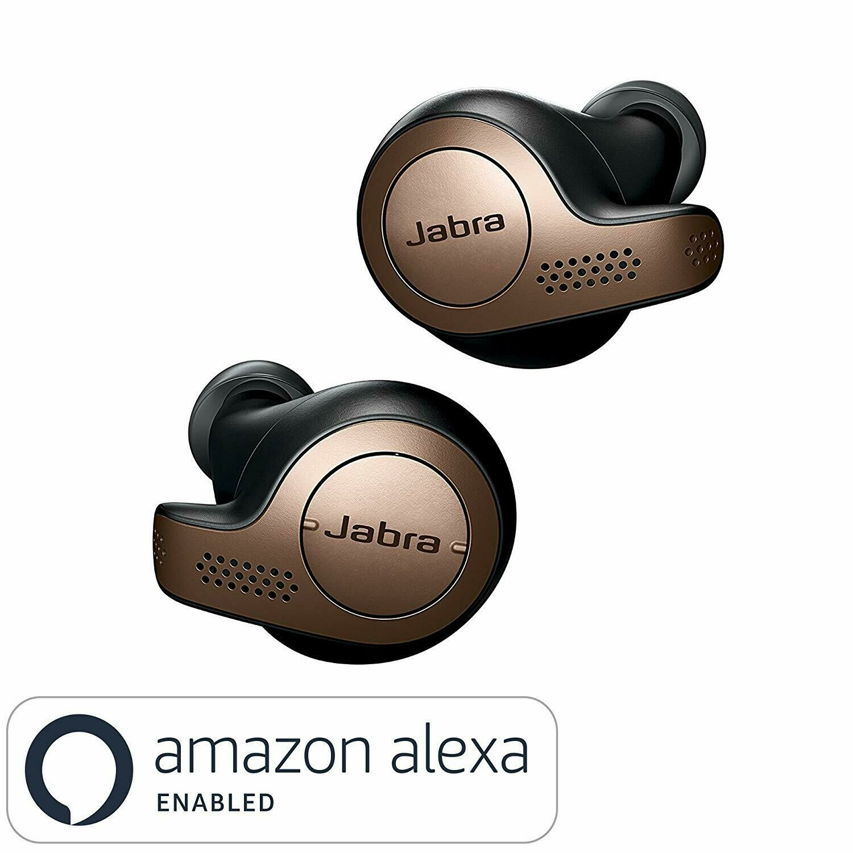 Jabra Elite 65t Wireless Bluetooth Earphone, Copper Black