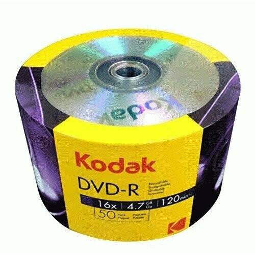 Kodak DVD-R 16x 4 7GB 50-Value Pack