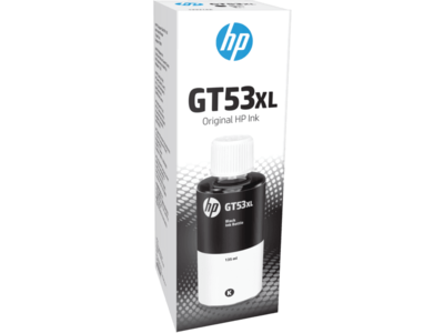 HP GT-53XL Ink Bottle, Black, 135ml