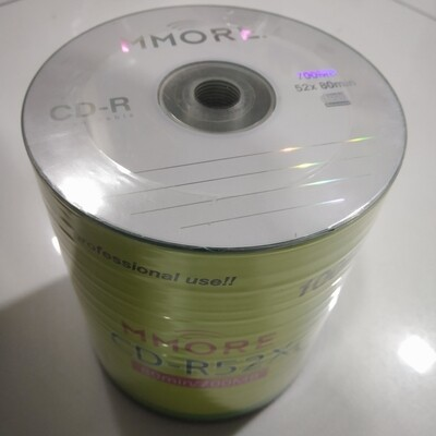 Mmore  CD-R 52x 80min / 700mb Pack of 100cds