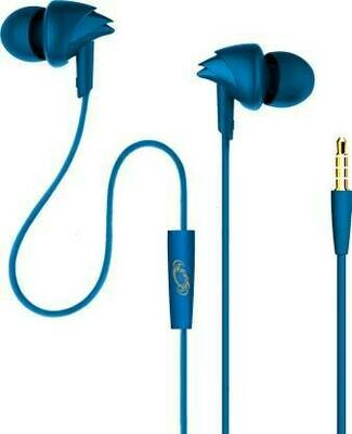 boAt BassHeads 100 in-Ear Headphones with Mic, Blue