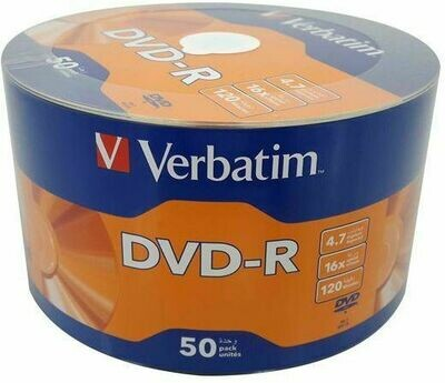 Verbatim DVD-R 16x 4.7GB, 120min, Pack of 50-disk