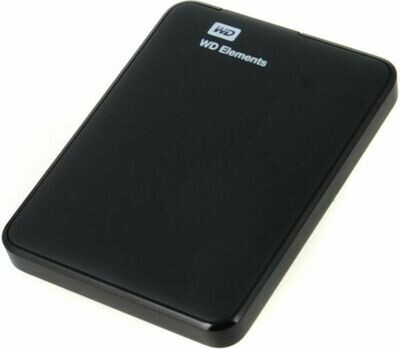 WD 500GB Elements portable External Hard Drive