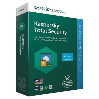 1 User, 1 Year, Kaspersky Total Security