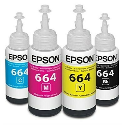 Epson ink Bottle, 664, For l100, l110, l130, l200, l210, l220, l300