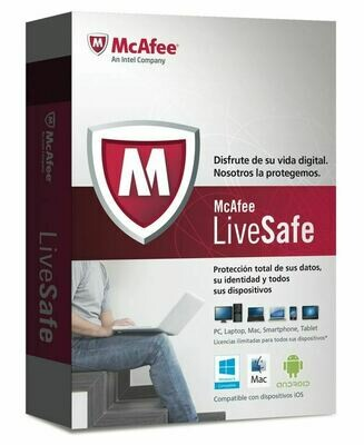 1 Devices, 3 Year, McAfee LiveSafe