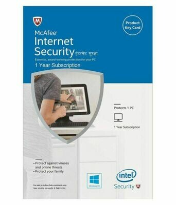 1 User, 1 Year, Mcafee Internet Security