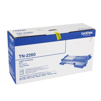 Brother TN-2260 Toner Cartridge, Black