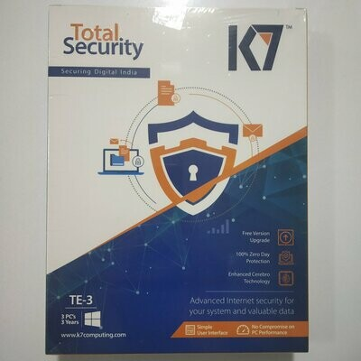 3 User, 3 Year, K7 Total Security