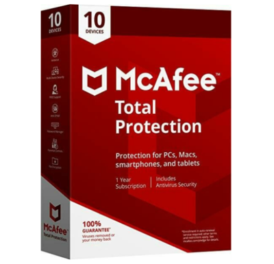 10 User, 1 Year, Mcafee Total Protection