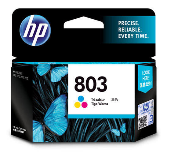 HP 803 Ink Cartridge, Tri Color