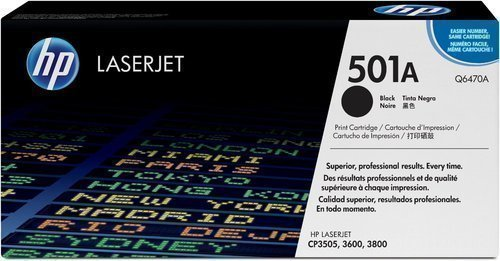 HP Q6470A 501A Black Toner Cartridge Q6470A HSN:8443
