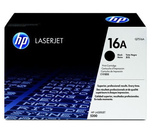 HP Q7516A 16A Black Toner Cartridge 12463 HSN:8443
