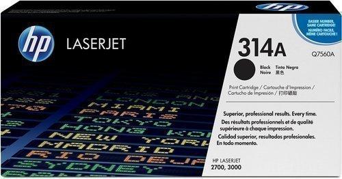 HP Q7560A 314A Black Toner Cartridge Q7560A HSN:8443