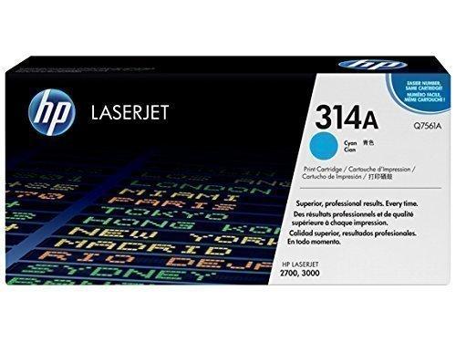 HP Q7561A 314A Cyan Toner Cartridge Q7561A HSN:8443