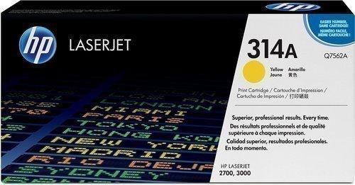 HP Q7562A 314A Yellow Toner Cartridge Q7562A HSN:8443