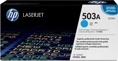 HP Q7581A 503A Cyan Toner Cartridge Q7581A HSN:8443