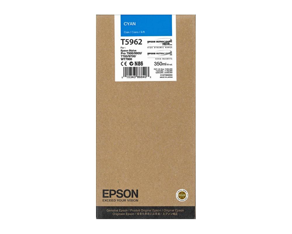 Epson T5962 Cyan Ink Cartridge (350ml) T5962 HSN:84439952