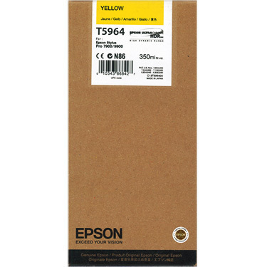 Epson T5964 Yellow Ink Cartridge (350ml) T5964 HSN:84439952